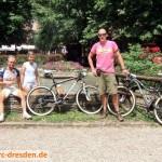 Das Team: Die Racer Ronald und Jana und Betreuer Kay
