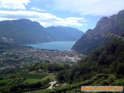 Der lang ersehnte Blick auf Riva del Garda - fast ist es geschafft!